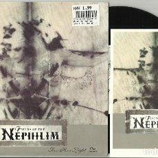 Discos de vinilo: FIELD OF THE NEPHILIM SINGLE FOR HER LIGHT INGLATERRA 1990.CON POSTAL. Lote 101301875