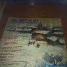 Discos de vinilo: VILLANCICOS FLAMENCOS. A BELEN, A BELEN, FUEGO AL CAÑON. .. C9V. Lote 101306555