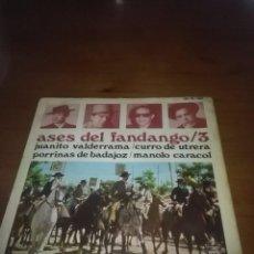 Discos de vinilo: ASES DEL FANDANGO / 3. JUANITO VALDERRAMA. MB3. Lote 101310927