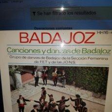 Discos de vinilo: EG8//CANCIONES Y DANZAS DE BADAJOZ. Lote 101313616