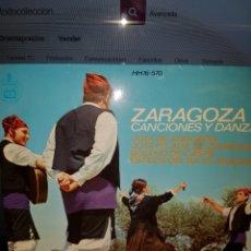 Discos de vinilo: EG8//ZARAGOZA CANCIONES Y DANZAS. Lote 101315264