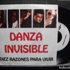 Discos de vinilo: DANZA INVISIBLE-DIEZ RAZONES PARA VIVIR- SINGLE PROMO 1991 SIN USO¡¡. Lote 101318383