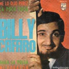 Discos de vinilo: BILLY CAFARO EP 1965- (ENVÍO MÁXIMO POR PAQUETE ES 10 €) . Lote 101323527