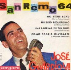 Discos de vinilo: JOSÉ GUARDIOLA EP 1964- (ENVÍO MÁXIMO POR PAQUETE ES 10 €) . Lote 101324011