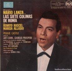 Discos de vinilo: MARIO LANZA - LAS SIETE COLINAS DE ROMA / HAY UNA REUNION ESTA NOCHE ..EP RCA DE 1958 RF-3261. Lote 101345123