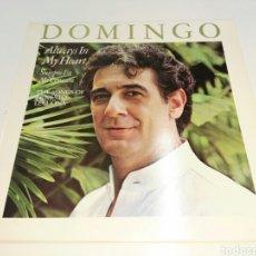 Discos de vinilo: PLACIDO DOMINGO- LP SIEMPRE EN MI CORAZON CANCIONES DE ERNESTO LECUONA- CBS 1984 SPAIN 3. Lote 101369412