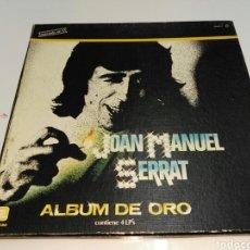 Discos de vinilo: JOAN MANUEL SERRAT- LP ALBUM DE ORO- CAJA 4 LP'S- ZAFIRO 1981 SPAIN 3. Lote 134013386