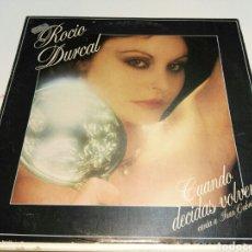 Discos de vinilo: ROCIO DURCAL- LP CUANDO DECIDAS VOLVER- CANTA A JUAN GABRIEL- ARIOLA 1981 3. Lote 101373015