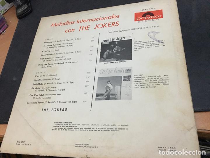 Discos de vinilo: LOS JOKERS (MELODIAS INTERNACIONALES) LP 1966 ESPAÑA (VIN-V) - Foto 3 - 111094712