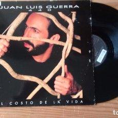 Discos de vinilo: MAXISINGLE (VINILO) DE JUAN LUIS GUERRA Y 4:40 AÑOS 90. Lote 101467539