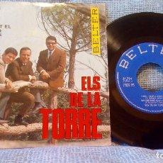 Discos de vinilo: ELS DE LA TORRE - UN COR BOIG /ENQUESTA / QUAN DIC TOT EL QUE T'ESTIMO / I ARA QUE?. Lote 101471815