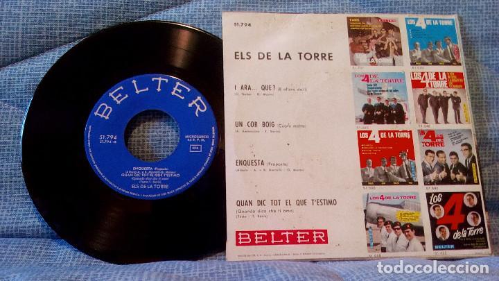 Discos de vinilo: ELS DE LA TORRE - UN COR BOIG /ENQUESTA / QUAN DIC TOT EL QUE TESTIMO / I ARA QUE? - Foto 2 - 101471815