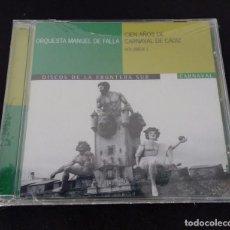 Discos de vinilo: CIEN AÑOS DE CARNAVAL DE CADIZ VOL. I ORQUESTA MANUEL DE FALLA. Lote 108674023