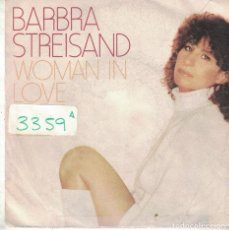 Discos de vinilo: BARBRA STREISAND - WOMAN IN LOVE / RUN WILD (SINGLE PROMO ESPAÑOL, CBS 1980). Lote 101530347