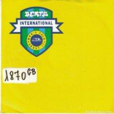 Discos de vinil: BEATS INTERNATIONAL - WON'T TALK ABOUT IT / BEATS INTERNATIONAL THEME (SINGLE ALEMAN, LONDON 1990). Lote 101531055