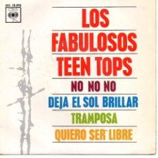 Discos de vinilo: TEEN TOPS, EP, NO NO NO + 3, AÑO 1963. Lote 101531763