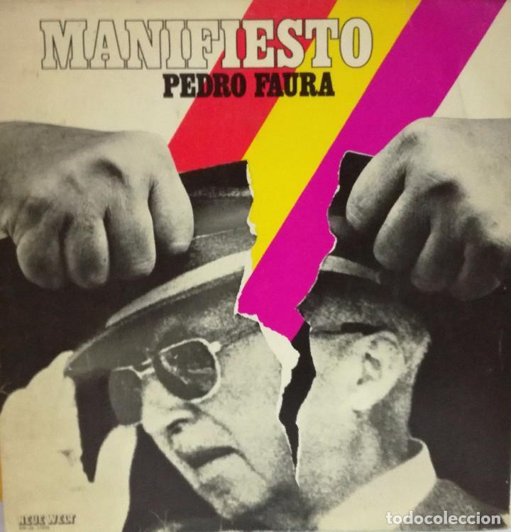 PEDRO FAURA - MANIFIESTO LP CANCIONES ANTI FASCISTAS LP (Música - Discos - LP Vinilo - Orquestas)