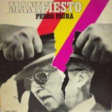 Disques de vinyle: PEDRO FAURA - MANIFIESTO LP CANCIONES ANTI FASCISTAS LP . Lote 101538591
