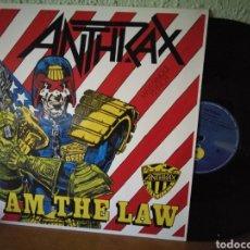 Discos de vinilo: ÁNTRAX.. I AM THE LAW.1987. ALEMANIA. Lote 101547218