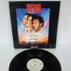 Discos de vinilo: BSO - HERO - GEORGE FENTON / DUSTIN HOFFMAN / ANDY GARCIA - LP - EPIC 1993 SPAIN. Lote 101549271