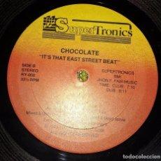 Discos de vinilo: CHOCOLETTE – IT'S THAT EAST STREET BEAT. EDICION US.. Lote 101571771