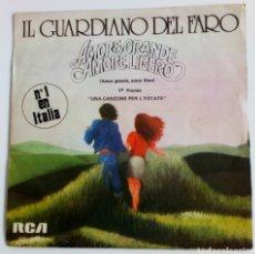 Discos de vinilo: IL GUARDIANO DEL FARO 1975 AMORE GRANDE, AMORE LIBERO. ITALIA. 1ER. PREMIO. UNA CANZONE PER .. Lote 101574699
