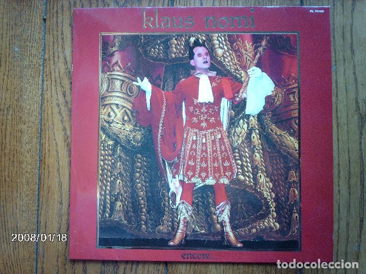 KLAUS NOMI - ENCORE ..... (Música - Discos - LP Vinilo - Pop - Rock - New Wave Extranjero de los 80)