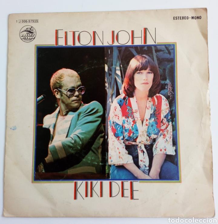 ELTON JOHN & KIKI DEE. DON'T GO BREAKING MY HEARTH Y SNOW QUEEN 1976 SINGLE 2 CANCIONES (Música - Discos - Singles Vinilo - Pop - Rock - Extranjero de los 70)