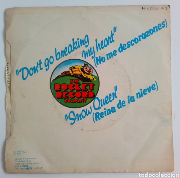 Discos de vinilo: ELTON JOHN & KIKI DEE. DONT GO BREAKING MY HEARTH Y SNOW QUEEN 1976 SINGLE 2 CANCIONES - Foto 2 - 101610483