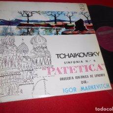 Discos de vinilo: P.I. TCHAIKOVSKY ORQ. SINFONICA LONDRES DIR.IGOR MARKEVITCH SINF. Nº6 PATETICA LP 1964 SPAIN. Lote 294855283