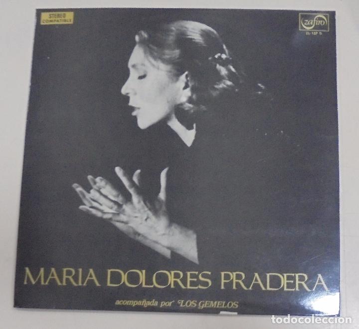 LP. MARIA DOLORES PRADERA ACOMPAÑADA POR LOS GEMELOS. EDITA ZAFIRO. 1972 (Música - Discos - LP Vinilo - Cantautores Españoles)