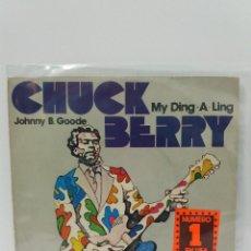 Discos de vinilo: SINGLE ** CHUCK BERRY *JOHNNY B.GOODE *COVER/ EXCELLENT/ NEAR MINT (EX/NM) *SINGLE/EXCELLENT(EX)1972. Lote 101630551