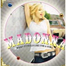 Discos de vinilo: MADONNA - WHAT IT FEELS LIKE FOR A GIRL (2 VERSIONES) - MAXISINGLE 2001. Lote 101630759