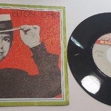 Discos de vinilo: VINILO SINGLE 7 45 RPM ELTON JOHN JUST LIKE BELGIUM. Lote 101675759