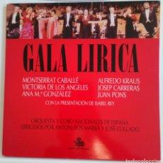 Discos de vinilo: GALA LÍRICA 1989 MONTSERRAT CABALLÉ, JOSEPH CARRERAS, ALFREDO KRAUS, JUAN PONS, A M. GONZÁLEZ, 2 LPS. Lote 101684366