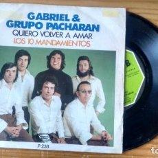 Disques de vinyle: SINGLE (VINILO) DE GABRIEL & GRUPO PÀCHARAN AÑOS 70. Lote 101688251