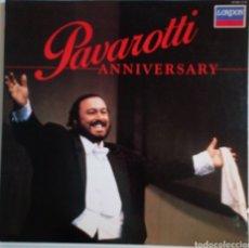 Discos de vinilo: LUCIANO PAVAROTTI. ANNIVERSARY 1986 CON FOLLETO. LONDON. Lote 101698318
