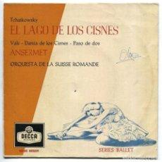 Discos de vinilo: DISCO EP 45 RPM - EL LAGO DE LOS CISNES / TCHAIKOWSKY (SDGE 80359). Lote 101707195