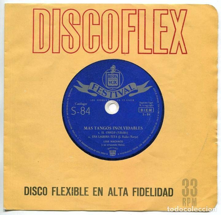 DISCO EP 45 RPM - MAS TANGOS INOLVIDABLES DE LUIS MACHACO (DISCO FLEXIBLE) (Música - Discos de Vinilo - EPs - Grupos y Solistas de latinoamérica)