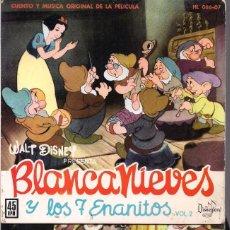 Discos de vinilo: BLANCANIEVES Y LOS 7 ENANITOS. Lote 101739367