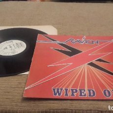Discos de vinilo: RAVEN LP. WIPED OUT. MADE IN SPAIN. 1986. Lote 101750011