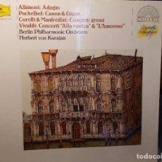 Discos de vinilo: ALBINONI ADAGIO PACHELBEL CANON KARAJAN. Lote 101754867