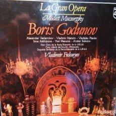 Discos de vinilo: MUSSORGSKY BORIS GODUNOV SELECCIÓN FEDOSEYEV LP COMO NUEVO. Lote 101755247