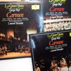 Discos de vinilo: BIZET CARMEN COMPLETA BERNSTEIN 3 LP COMO NUEVOS. Lote 101755355
