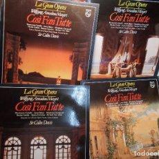Discos de vinilo: MOZART COSI FAN TUTTE COMPLETA DAVIS COMPLETA 4 LP COMO NUEVOS. Lote 101755515