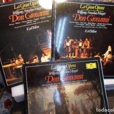 Discos de vinilo: MOZART DON GIOVANNI COMPLETA BÖHM 3 LP COMO NUEVOS. Lote 101755955
