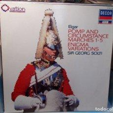 Discos de vinilo: ELGAR POMPA Y CIRCUNSTANCIA SOLTI LP COMO NUEVO. Lote 101756303