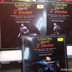 Discos de vinilo: VERDI EL TROVADOR COMPLETA GUILINI 3 LP COMO NUEVOS. Lote 101756375
