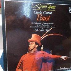 Discos de vinilo: GOUNOD FAUSTO SELECCIÓN DAVIS LP COMO NUEVO. Lote 101756491