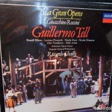 Discos de vinilo: ROSSINI GUILLERMO TELL SELECCIÓN CHAILLY LP COMO NUEVO. Lote 101756651